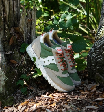 PLAYERO SAUCONY JAZZ ORIGINAL GREEN BROWN